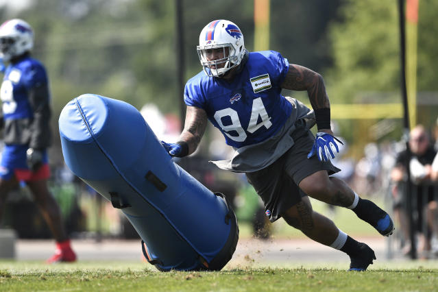 On Thursday, Buffalo Bills defensive tackle Kyle Peko revealed that his wife is battling Stage 3 Hodgkin lymphoma. (AP)