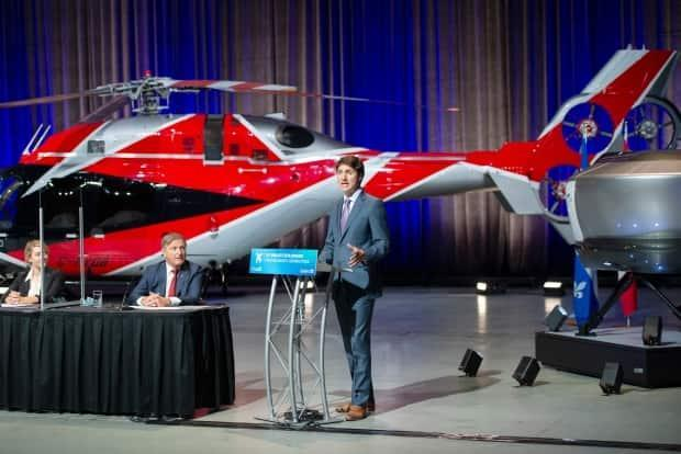 Prime Minister Justin Trudeau makes an aerospace economic announcement, Thursday, July 15, 2021 in Montreal. (Ryan Remiorz/The Canadian Press - image credit)