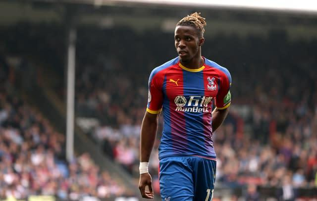 Crystal Palace's Wilfried Zaha is attracting interest from several top-flight clubs (Isabel Infantes/PA)