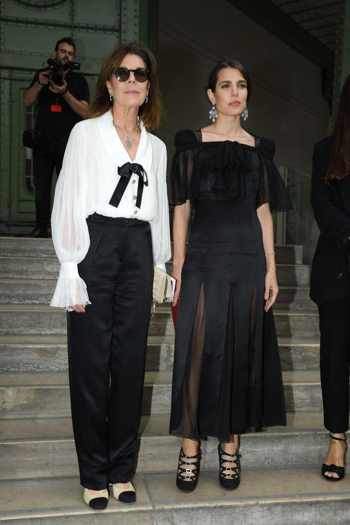 <p>Princess Caroline and her daughter Charlotte Casiraghi attended an homage celebration to the late Karl Lagerfeld at the Grand Palais in Paris in the summer of 2019.</p>