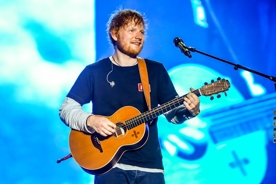 Edward Christopher Sheeran, English singer, songwriter, guitarist, record producer, and actor, performs during the first day of Sziget Festival in Budapest, Hungary on August 7, 2019. His concert is the biggest sold out in the whole history of this festival. (Photo by Luigi Rizzo/Pacific Press/Sipa USA)
