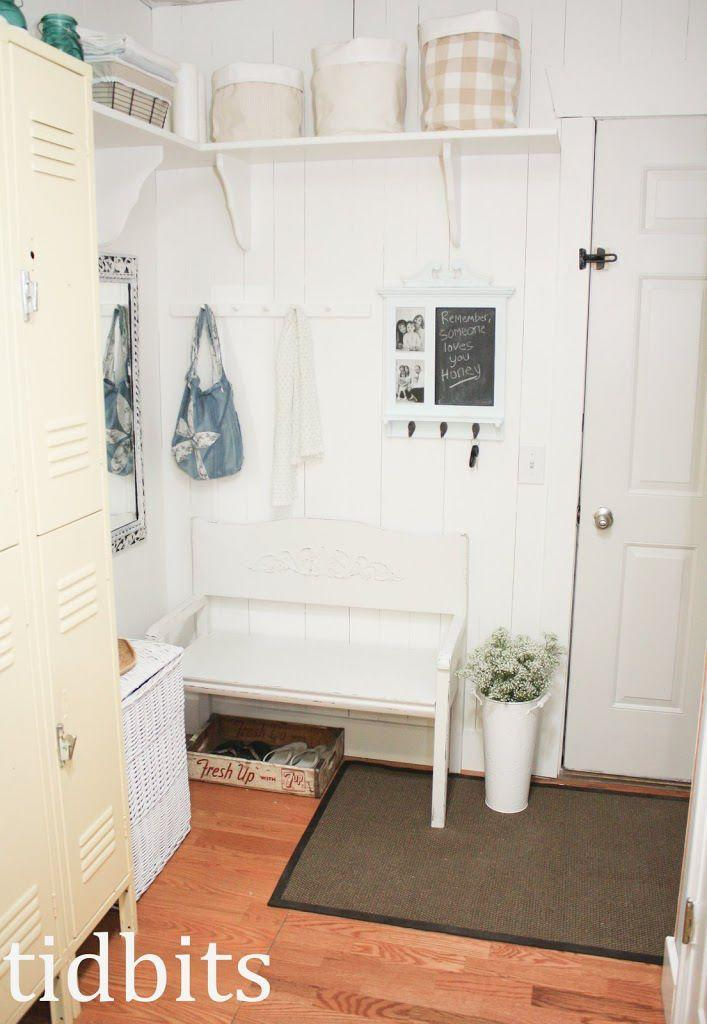 """<p>Just a few hooks and one solid shelf are all you need to streamline a front door pileup. This blogger even sacrificed a closet to outfit her entryway with organizing tools, a change she finds more efficient and helpful.</p><p><a href=""""http://www.tidbits-cami.com/2013/03/mudroom-makeover.html"""" rel=""""nofollow noopener"""" target=""""_blank"""" data-ylk=""""slk:Get the how-to at Tidbits »"""" class=""""link rapid-noclick-resp""""><em>Get the how-to at Tidbits »</em></a></p>"""