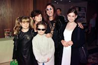 Ozzy Osbourne, wife Sharon and children Kelly, Jack and Aimee at the Kerrang Awards 1997 in London.
