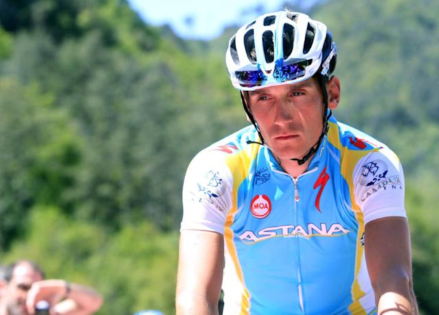 Czech Republic cyclist Roman Kreuziger during the Tour of Italy cycling race in Sestri Levante on May 17, 2012 (AFP Photo/Luk Benies)