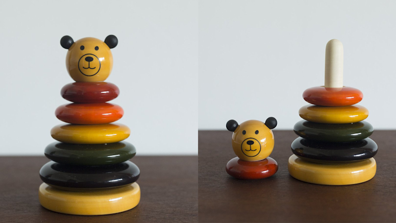 Best gifts for babies: A beautiful wooden stacking toy
