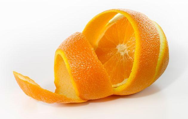 Using fruit peels high in acid is bad for your tooth enamel. Photo: Getty