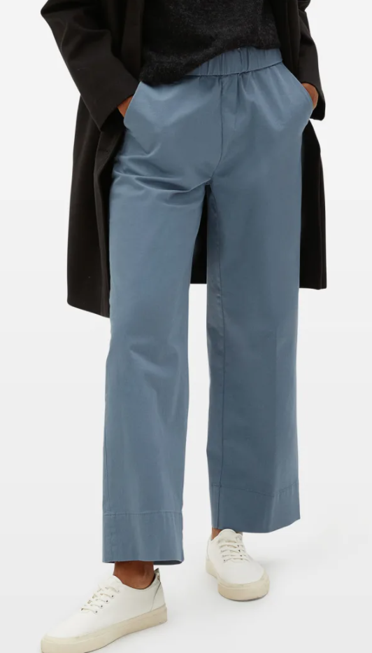 Everlane Easy Straight Leg Chino in Blue Teal