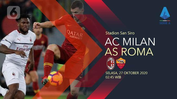 AC Milan vs AS Roma (Liputan6.com/Abdillah)