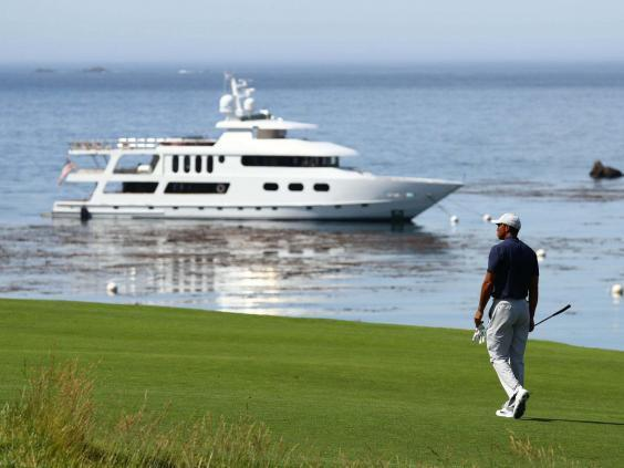 Woods plays a practice round at Pebble Beach (USA TODAY Sports)