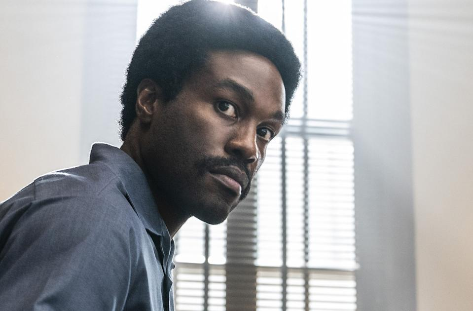 Yahya Abdul-Mateen II in 'The Trial of the Chicago 7' (Netflix)