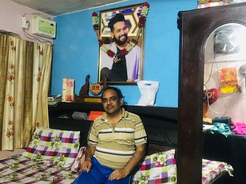 Yashpal Saxena, Ankit Saxena's father, at his home in West Delhi.