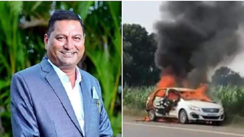 NCP leader Sanjay Shinde burnt alive as car catches fire