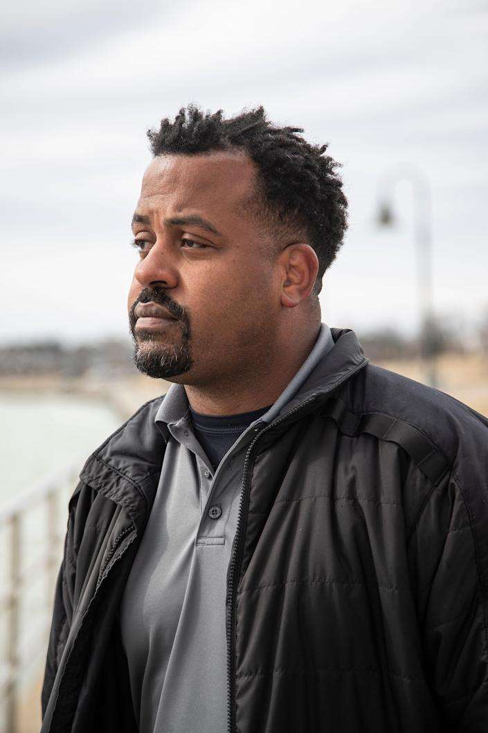 Johnny Lee Glaze, US Customs and Border Protection officer near Bluewater Bridge in Port Huron, Thursday, March 18, 2021.