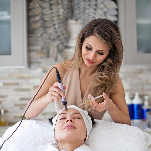 """<p>Adeela Crown is becoming known as the go-to 'on-set' facialist for the film and TV industry, thanks to her signature blend of sculpting massage and encyclopaedic knowledge of advanced treatments. Now, thanks to a year-long residency at The Dorchester's iconic spa, you can experience her transformative facials in the capital. Crown's treatments are entirely customised: the only thing guaranteed is that you'll emerge with skin worthy of second glances. Non-abrasive aqua dermabrasion, enzyme resurfacing, toning microcurrent, microneedling and LED therapy are just some of the techniques on the menu, while placenta-infused masks and expertly cocktailed Dr. Barbara Sturm serums prioritise performance over pampering appeal. But it's Crown's signature massage technique that makes the experience so memorable. Dubbed the 'Skindance', it combines elements of gua sha use, Hungarian massage and Tanaka acupressure to shift deep-seated toxins and encourage blood flow, bringing facial contours sharply to the fore. It might not be the most relaxing massage you'll receive, but the sculpting results are phenomenal.</p><p>Adeela Crown at The Dorchester, from £390, <a href=""""https://www.dorchestercollection.com/en/london/the-dorchester/spa-treatments/#facials"""" rel=""""nofollow noopener"""" target=""""_blank"""" data-ylk=""""slk:dorchestercollection.com"""" class=""""link rapid-noclick-resp"""">dorchestercollection.com</a></p><p><a href=""""https://www.instagram.com/p/BxhrwDmB8GH/?utm_source=ig_embed&utm_campaign=loading"""" rel=""""nofollow noopener"""" target=""""_blank"""" data-ylk=""""slk:See the original post on Instagram"""" class=""""link rapid-noclick-resp"""">See the original post on Instagram</a></p>"""