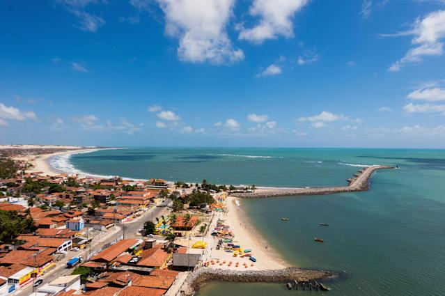 NATAL, BRAZIL - NOVEMBER 14: An aerial view of Redinha beach on November 14, 2013 in Natal, Brazil. (Photo by Buda Mendes/Getty Images)