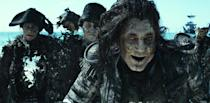 <p>The undead Captain Salazar (Javier Bardem) in 'Pirates of the Caribbean: Dead Men Tell No Tales' (Photo: Disney) </p>  <p>Back In Ship Shape</p><p> Javier Bardem as the living Captain Salazar in 'Pirates of the Caribbean: Dead Men Tell No Tales' (Photo: Disney)<br> </p>  <p>Message in a Bottle?</p><p> An image from 'Pirates of the Caribbean: Dead Men Tell No Tales' (Photo: Disney)<br><br><br> </p>  <p>Heat Wave</p><p> A spooky Javier Bardem as Captain Salazar in 'Pirates of the Caribbean: Dead Men Tell No Tales' (Photo: Disney)<br><br> </p>  <p>Sweet Bird of Youth</p><p> Captain Jack Sparrow (Johnny Depp) in a flashback scene, made young with the help of CGI in 'Pirates of the Caribbean: Dead Men Tell No Tales' (Photo: Disney)<br><br><br> </p>  <p>Cool vs. Ghoul</p><p> Geoffrey Rush as Barbossa (left) faces off with Javier Bardem as Captain Salazar in 'Pirates of the Caribbean: Dead Men Tell No Tales' (Photo: Disney)<br><br> </p>  <p>Keep Your Eye on the Sparrow</p><p> Johnny Depp as Captain Jack Sparrow in 'Pirates of the Caribbean: Dead Men Tell No Tales' (Photo: Disney)<br><br> </p>  <p>The New Recruit</p><p> Brenton Thwaites plays Henry, a young sailor, in 'Pirates of the Caribbean: Dead Men Tell No Tales' (Photo: Disney)<br><br> </p>