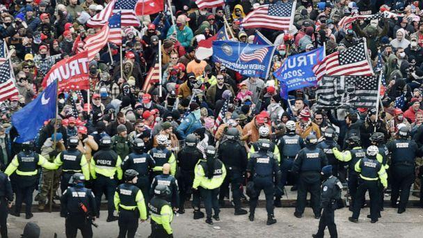 PHOTO: Trump supporters clash with police and security forces as they storm the U.S. Capitol in Washington, D.C., Jan. 6, 2021. (Olivier Douliery/AFP via Getty Images, FILE)