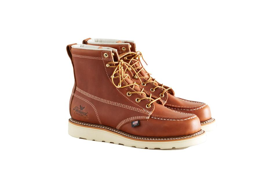 """$180, Context. <a href=""""https://contextclothing.com/collections/footwear/products/814-4200-moc-toe-tobacco"""" rel=""""nofollow noopener"""" target=""""_blank"""" data-ylk=""""slk:Get it now!"""" class=""""link rapid-noclick-resp"""">Get it now!</a>"""