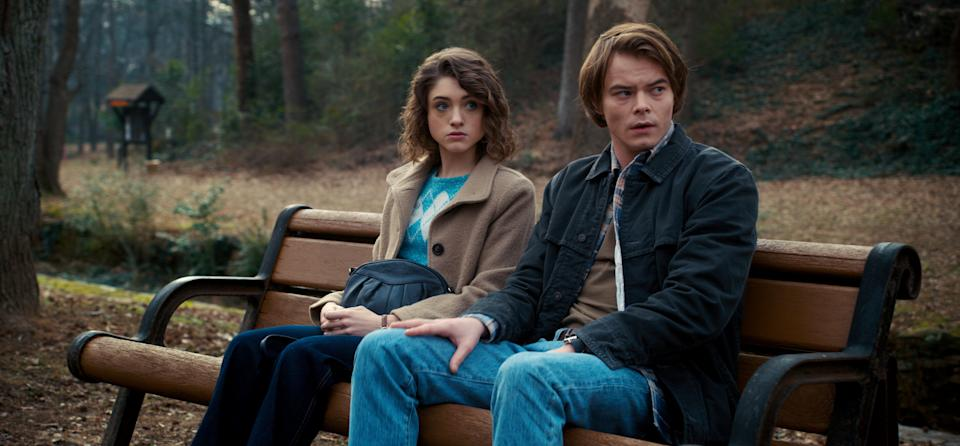 Dyer (left) and Charlie Heaton in Netflix's 'Stranger Things'Netflix