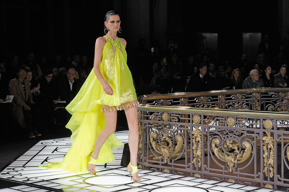 Stella Tennant for Versace in 2013