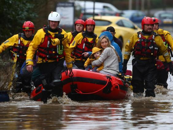Recovery efforts are underway in south Wales following widespread flooding (Getty)