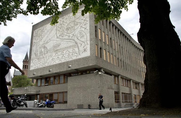 Picasso's 'The Fishermen' adorns a wall of the Y-block in Oslo which is to be demolished