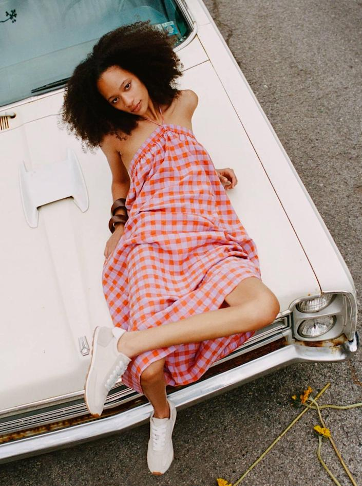 """The low-key picnic wedding definitely requires at least one guest matching the blanket. $50, Zara. <a href=""""https://www.zara.com/us/en/plaid-dress-p04661123.html?"""" rel=""""nofollow noopener"""" target=""""_blank"""" data-ylk=""""slk:Get it now!"""" class=""""link rapid-noclick-resp"""">Get it now!</a>"""