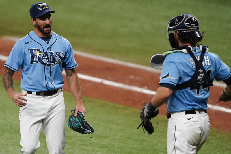 The Rays enter October as the No. 1 seed in the AL, but it's a tough road ahead. (Photo by Douglas P. DeFelice/Getty Images)