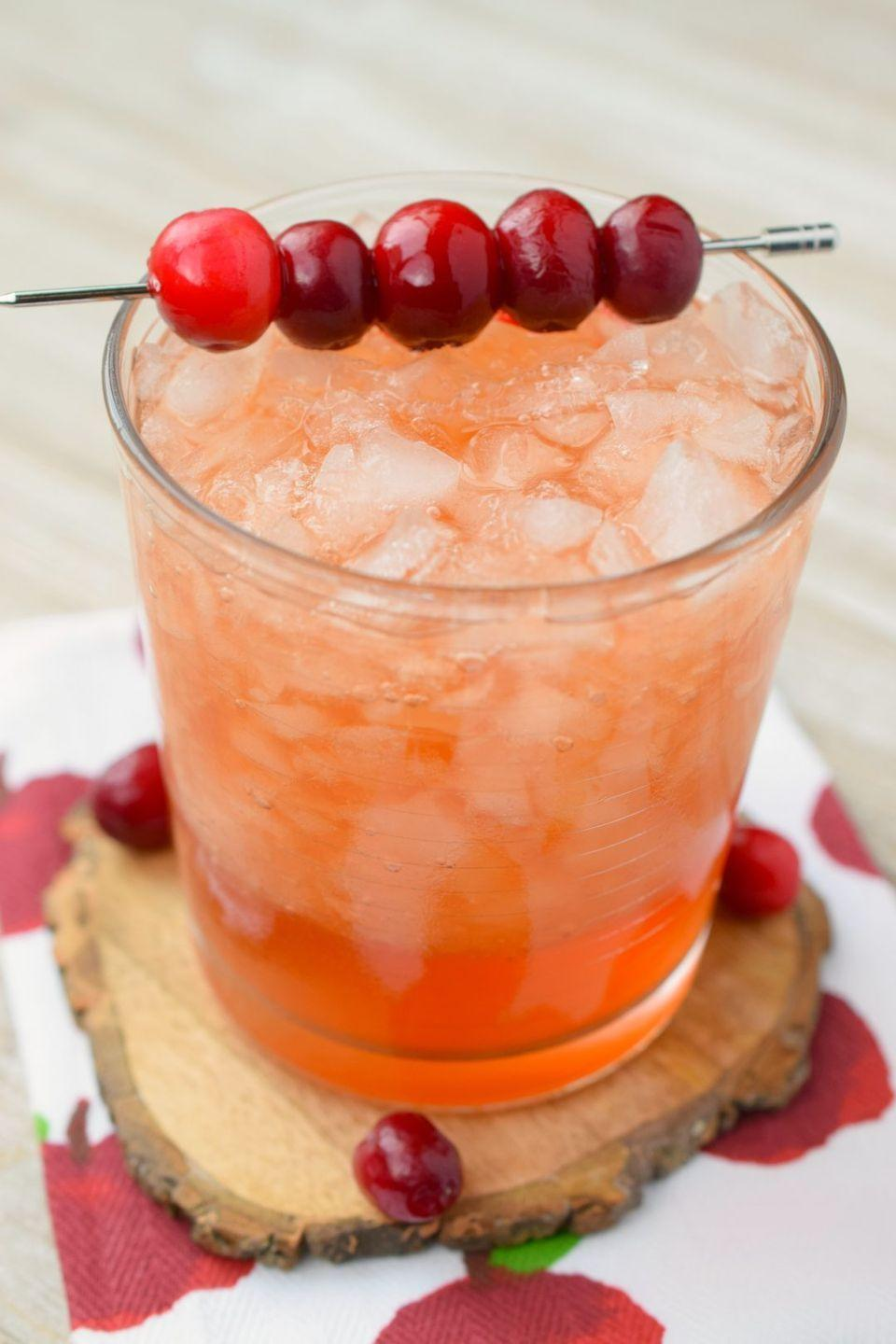 """<p>This sounds like the perfect cocktail to make for Thanksgiving dinner. Or just enjoy it on a crisp fall afternoon!</p><p><strong>Get the recipe at <a href=""""https://snacksandsips.com/cranberry-whiskey-apple-cider-cocktail/"""" rel=""""nofollow noopener"""" target=""""_blank"""" data-ylk=""""slk:Snacks and Sips"""" class=""""link rapid-noclick-resp"""">Snacks and Sips</a>.</strong></p><p><a class=""""link rapid-noclick-resp"""" href=""""https://go.redirectingat.com?id=74968X1596630&url=https%3A%2F%2Fwww.walmart.com%2Fip%2F3-Piece-Cocktail-Shaker-Stainless-Steel-16-oz%2F116981031&sref=https%3A%2F%2Fwww.thepioneerwoman.com%2Ffood-cooking%2Fmeals-menus%2Fg33510531%2Ffall-cocktail-recipes%2F"""" rel=""""nofollow noopener"""" target=""""_blank"""" data-ylk=""""slk:SHOP COCKTAIL SHAKERS"""">SHOP COCKTAIL SHAKERS</a> </p>"""