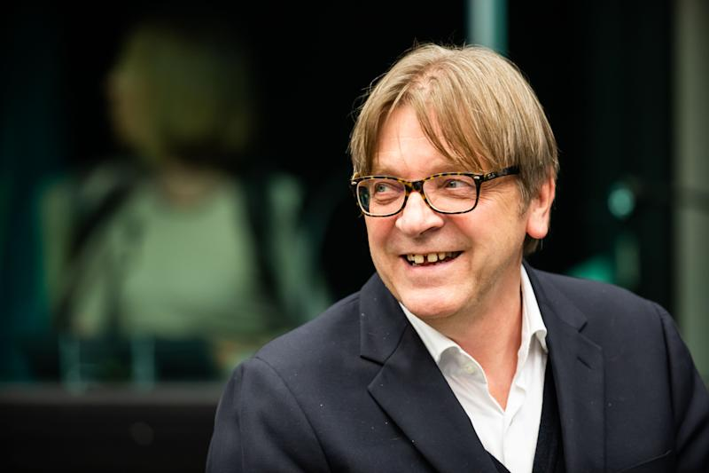 21 October 2019, France (France), Straßburg: Guy Verhofstadt of the Renew Group in the run-up to the meeting of the Conference of Presidents. Photo: Philipp von Ditfurth/dpa (Photo by Philipp von Ditfurth/picture alliance via Getty Images)