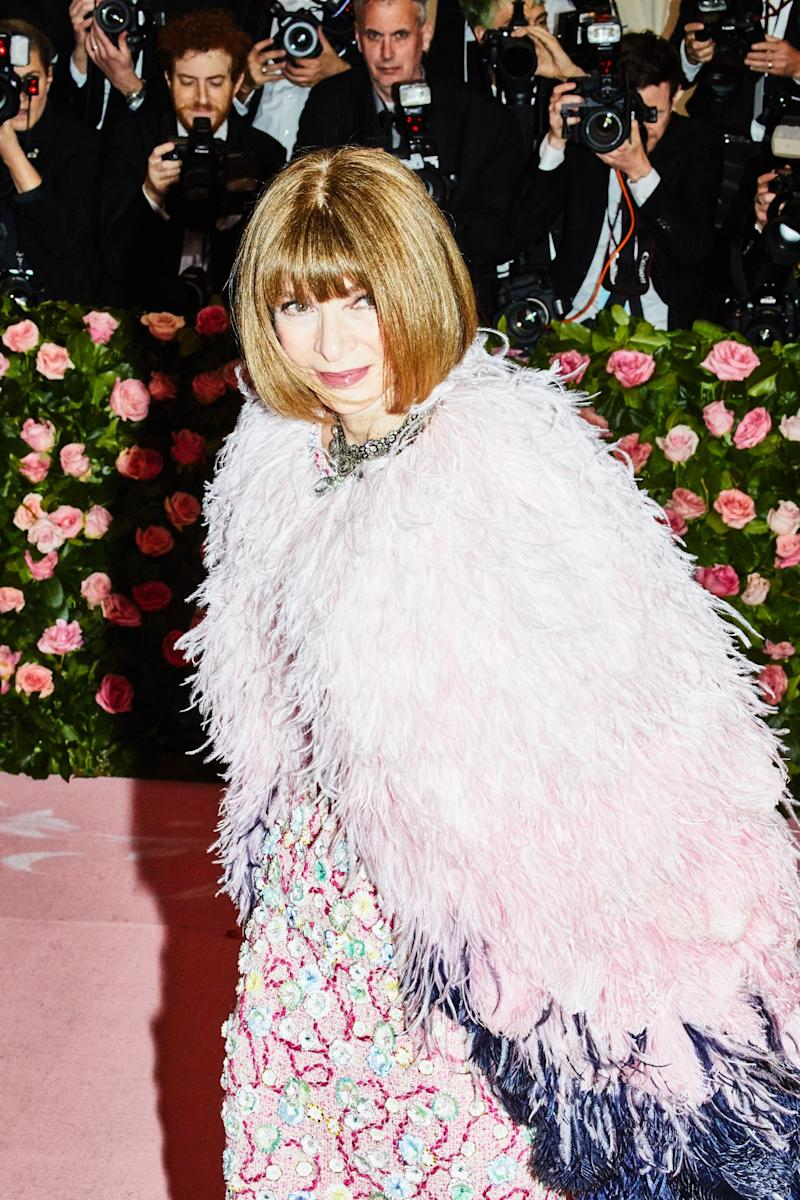 Anna Wintour on the red carpet at the Met Gala in New York City on Monday, May 6th, 2019. Photograph by Amy Lombard for W Magazine.