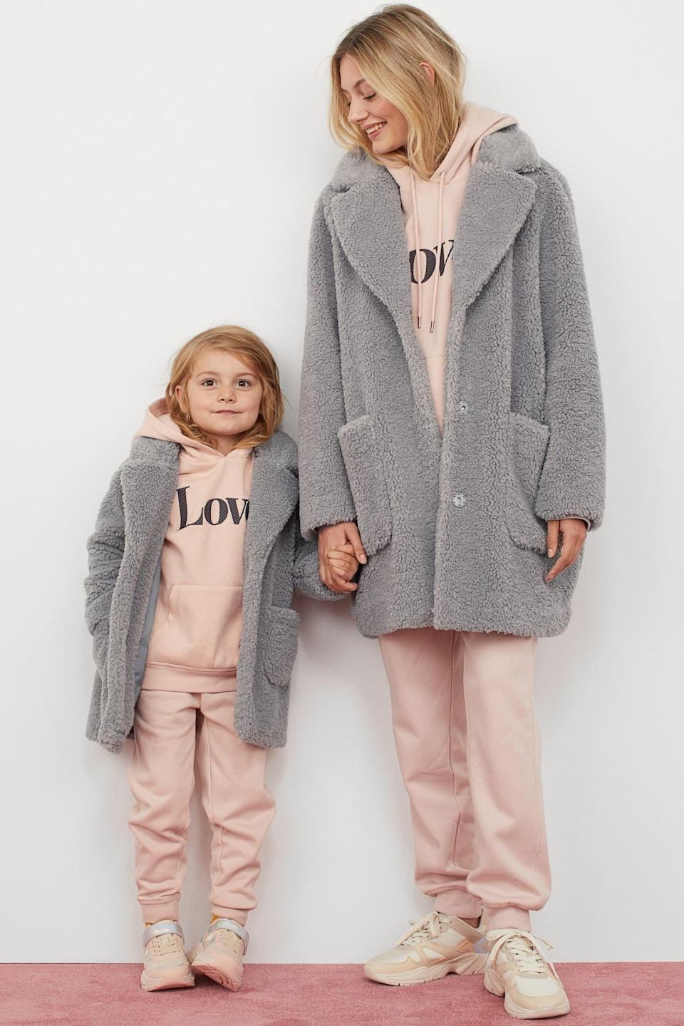 <p>You, and your little one, will love this <span>H&M Short Faux Shearling Coat</span> ($80).</p>