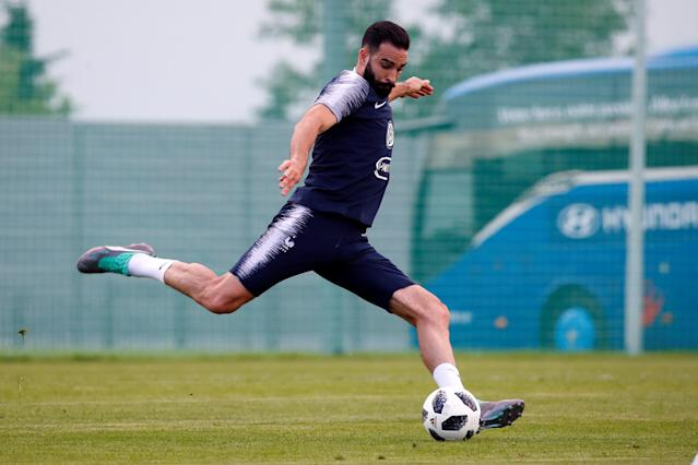 Soccer Football - World Cup - France Training - France Training Camp, Moscow, Russia - June 22, 2018 France's Adil Rami during training REUTERS/Axel Schmidt