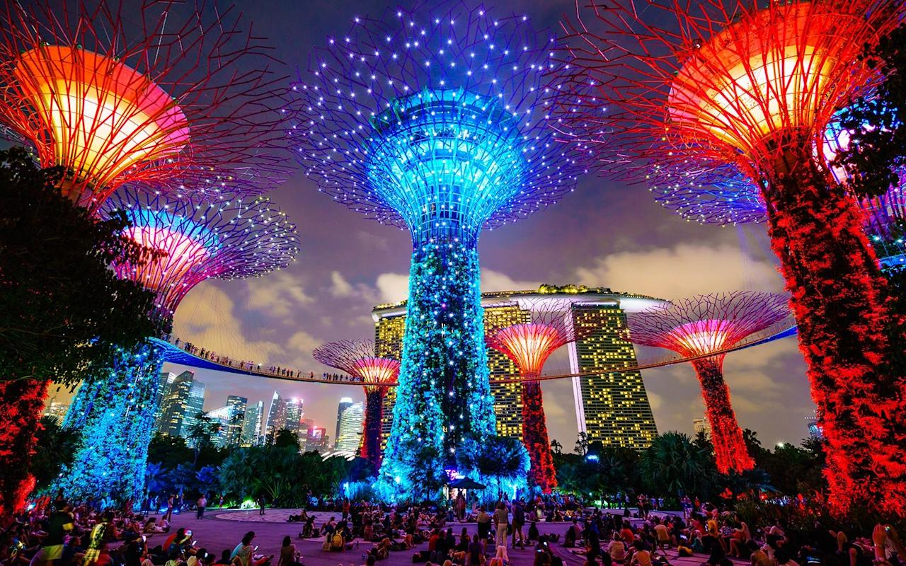 """<p>With monsoon season over, February marks the start of Singapore's travel season. Hotels tend to be less expensive around this time of year, with rates averaging $275 compared with rates in the fall, when they can creep upwards of $300. To top it off, Singapore is home to one of the <a href=""""http://www.visitsingapore.com/festivals-events-singapore/cultural-festivals/chinese-new-year/"""" target=""""_blank"""">biggest Chinese New Year celebrations</a> in the world, which kicks off on February 16 with lantern-lined streets, colorful parade, and an excuse to sample all the seasonal treats at the city's <a href=""""https://www.travelandleisure.com/slideshows/worlds-best-street-food-cities#1"""" target=""""_blank"""">famous hawker markets</a>. In other words, come hungry.</p>"""