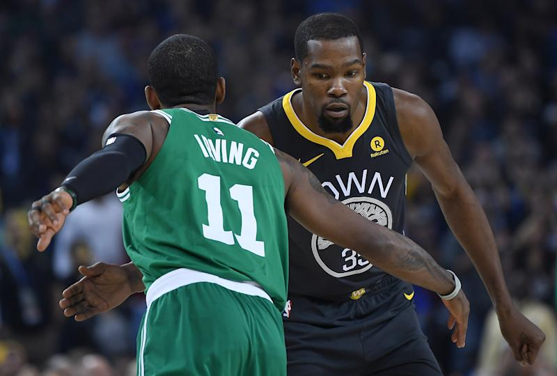 Kevin Irving left the Boston Celtics to join Kevin Durant on the Brooklyn Nets. (Getty Images)
