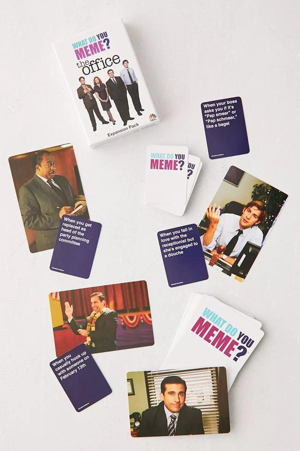 <p>If your kids already love this game, the <span>What Do You Meme? The Office Expansion Pack</span> ($13) is a great addition to their collection.</p>