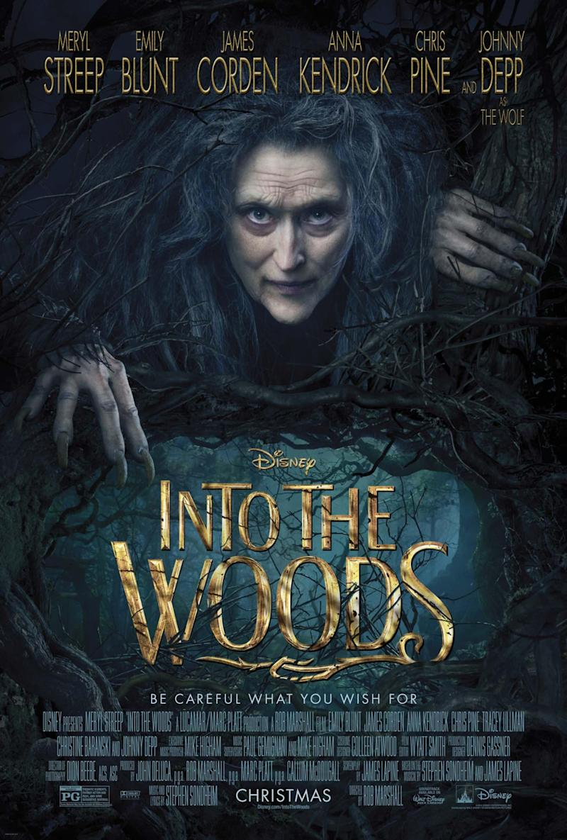 Meryl Streep in the poster for Into the Woods