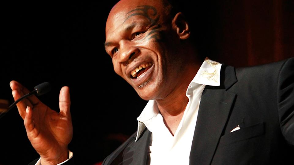 Heavyweight boxing legend Mike Tyson is pictured.