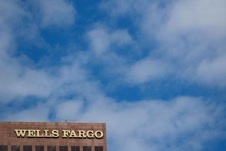 FILE PHOTO: The Wells Fargo name is shown on an office town in downtown Los Angeles