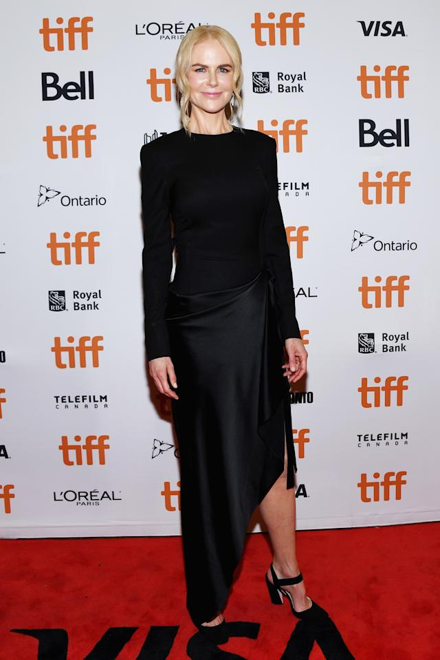 "<p>Kidman's asymetrical ensemble by Monse was an understated choice for the ""Boy Erased"" red carpet. </p>"
