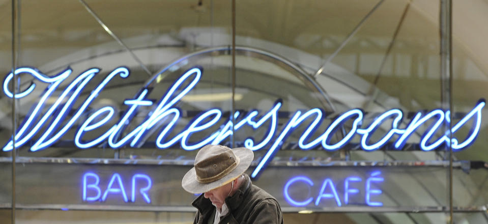 A Wetherspoon's bar in central London. Photo: Toby Melville/Reuters