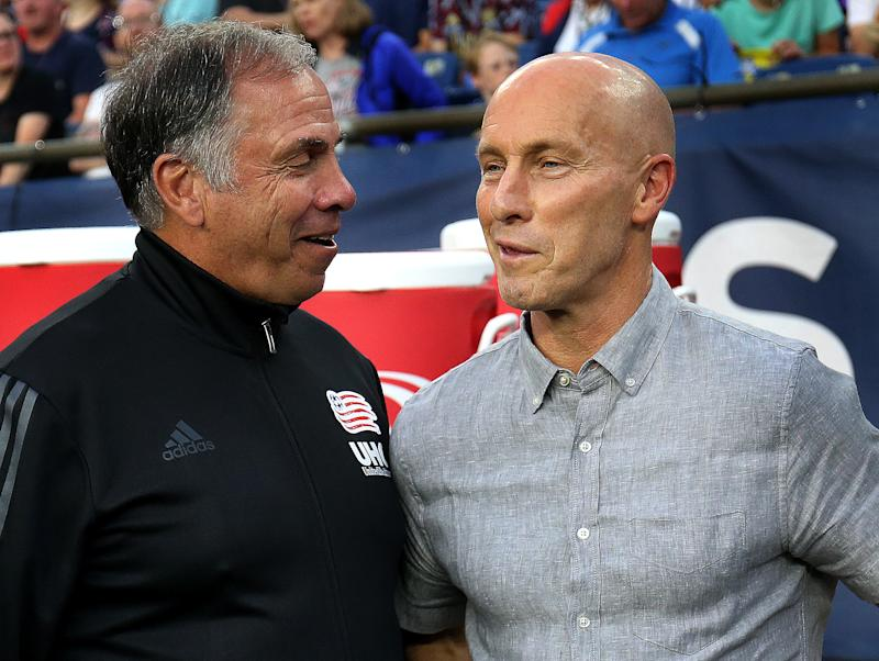 Bruce Arena (left) and Bob Bradley are two of the coaches who have helped define soccer in the United States, both at the domestic and international level. (Photo by Barry Chin/The Boston Globe via Getty Images)
