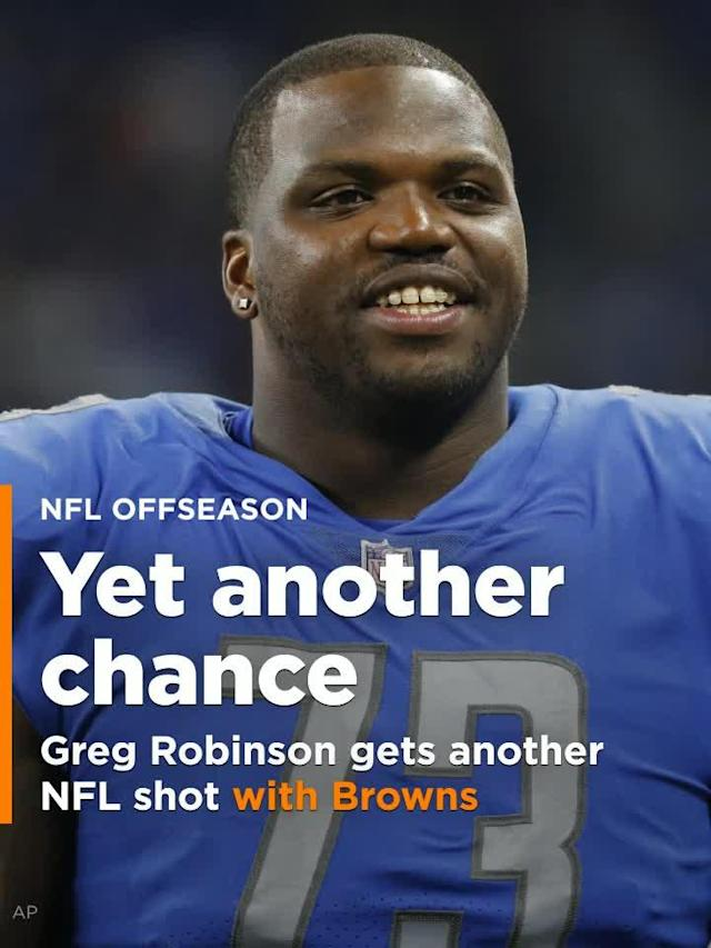 LT Greg Robinson seemed to be out of chances in the NFL as he was unsigned through this offseason, but the Cleveland Browns signed Robinson on Tuesday.