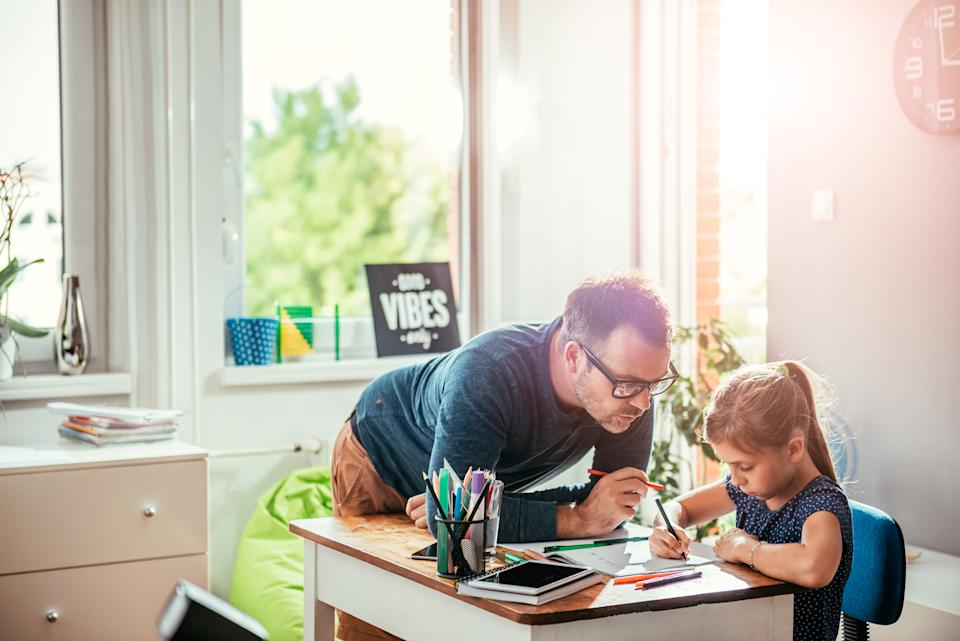 Parents have suddenly found themselves thrust into the role of teacher. (Getty Images)