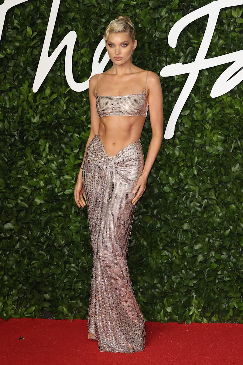 Elsa Hosk Shuts Down the Red Carpet With a Set of Supermodel Abs