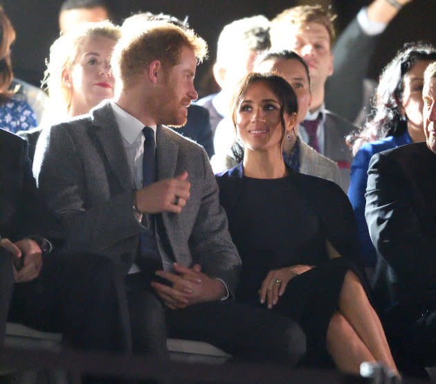 The Duke And Duchess Of Sussex at the Invictus Games Opening Ceremony at the Sydney Opera House on Saturday.