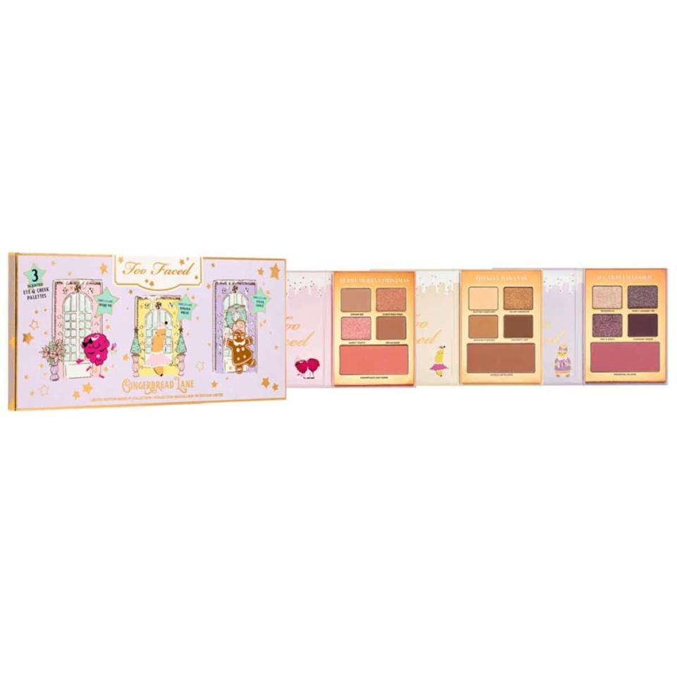 "Every year, Too Faced comes out with the cutest holiday kits of the season, and this year was no different. The Gingerbread Lane palette trio comes with three eye and cheek palettes, all scented to trigger happy holiday memories. I am obsessed with the Whole Latte Love bronzer, too, because it smells like freshly baked banana bread! <em>—Megan Ruxton, Clinique Counter Manager at Ulta Beauty Pleasant Prairie, WI</em> $35, Ulta. <a href=""https://www.ulta.com/limited-edition-tutti-frutti-gingerbread-lane-makeup-collection?productId=pimprod2010477"">Get it now!</a>"