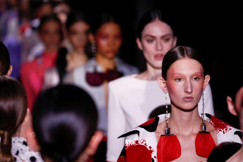 Valentino adds subversive twist to classic gowns for Paris show