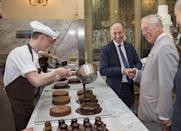 <p>While visiting Vienna, Prince Charles excitedly pointed to pastry chefs preparing chocolate cakes at Cafe Demel.</p>
