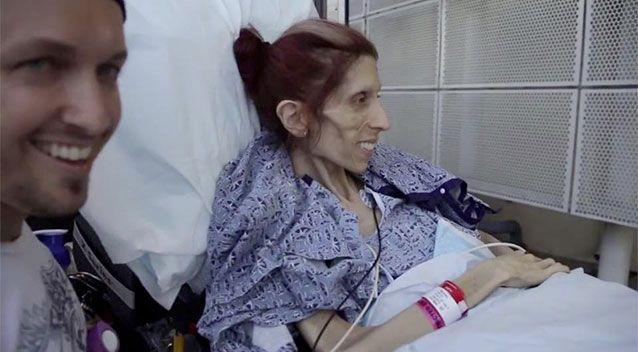 Rachael Farrokh pictured being wheeled into the UC San Diego Medical Center on June 20. Photo: Facebook/Rod Edmondson